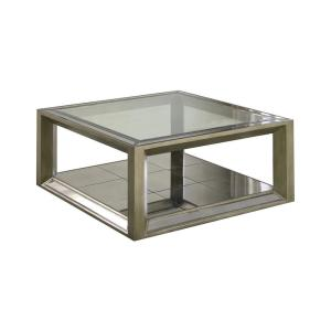 Billy Dull Gold Mirrored Square 40'' Coffee Table