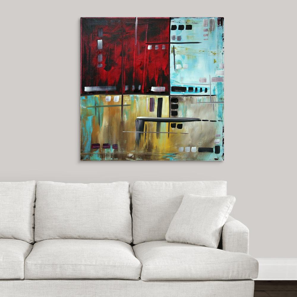 Greatcanvas In The Maze 1 Contemporary Modern Abstract Painting By Megan Duncanson Canvas