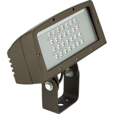 PCOFL Collection 100-Watt Bronze Outdoor Landscape Integrated LED Flood Light