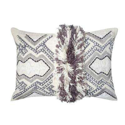 A1HC Organzza Handcrafted Moroccan 14 in. x 20 in. Decorative Throw Pillow