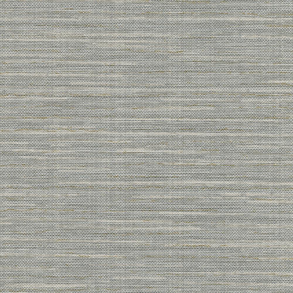 8 in. x 10 in. Bay Ridge Grey Faux Grasscloth Wallpaper Sample