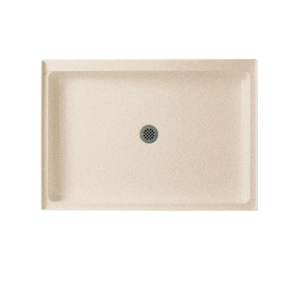 Swan 34 in. x 48 in. Solid Surface Single Threshold Shower Floor in Bermuda Sand