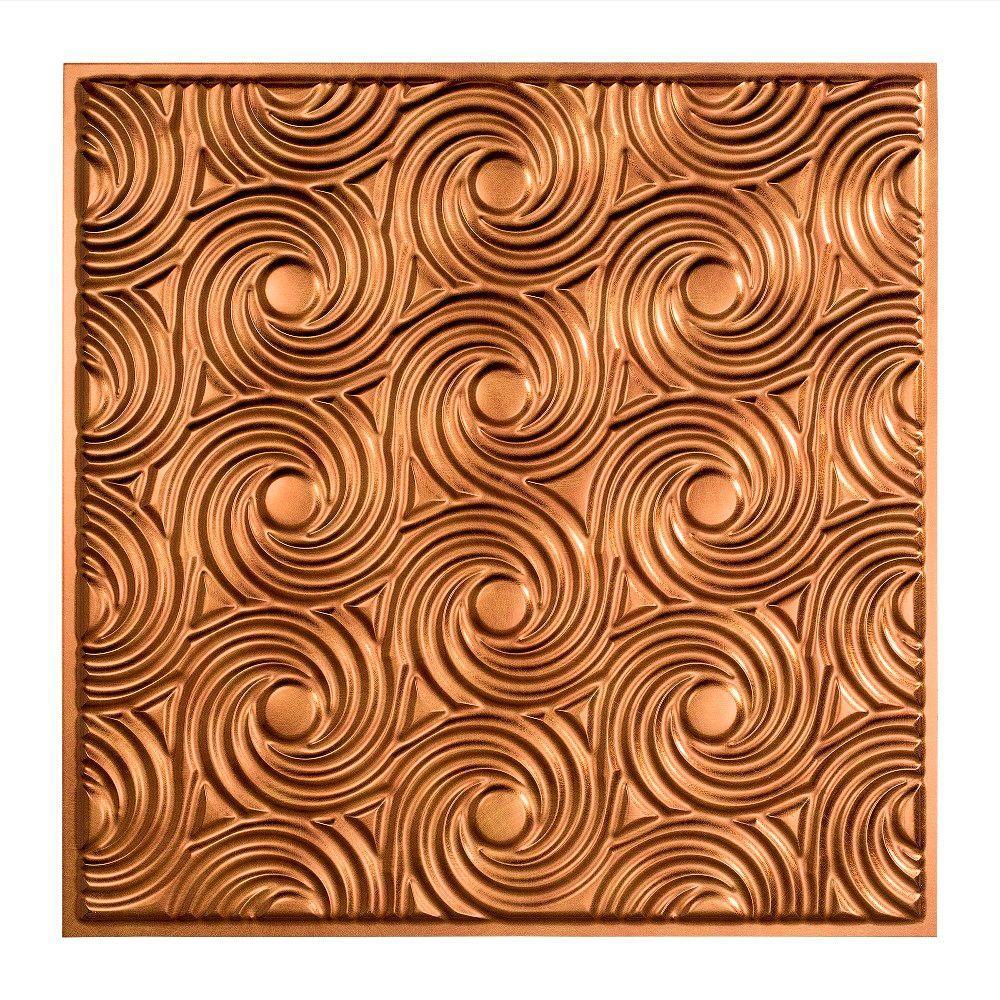 Bronze ceiling tiles