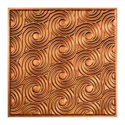 Cyclone - 2 ft. x 2 ft. Lay-in Ceiling Tile in Antique Bronze