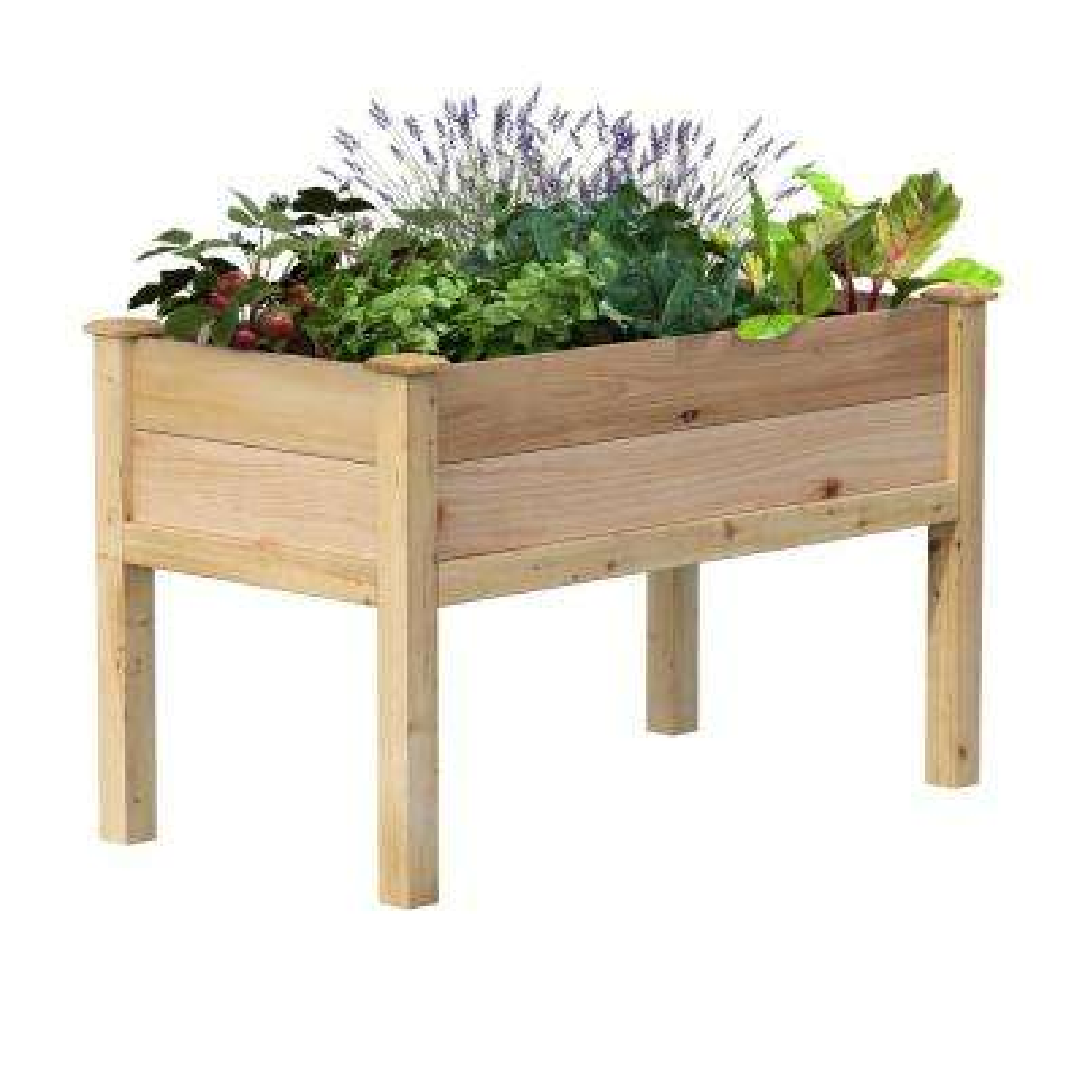 48 in. L x 24 in. W x 31 in. H Premium Cedar Elevated Garden Bed