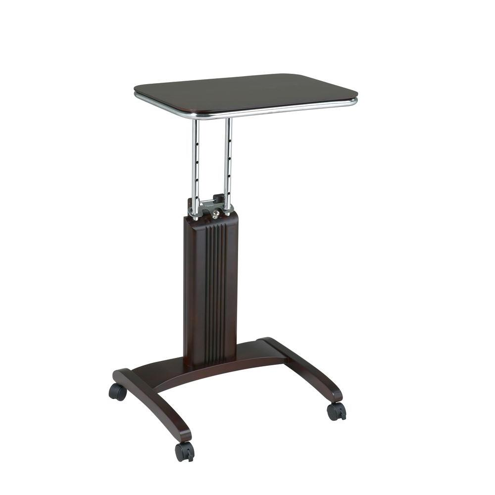 ospdesigns precision espresso laptop stand with wheels psn628 the home depot. Black Bedroom Furniture Sets. Home Design Ideas