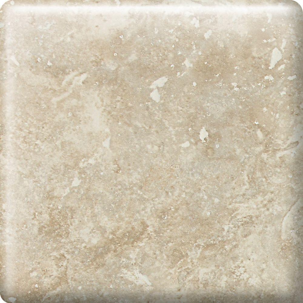 Heathland White Rock 2 in. x 2 in. Glazed Ceramic Bullnose