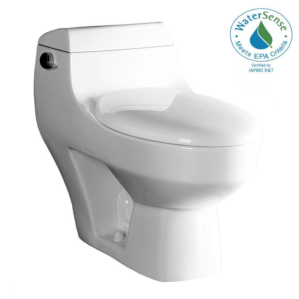 Ariel Platinum 1-Piece 1.6 GPF Elongated Toilet in White by Ariel Platinum