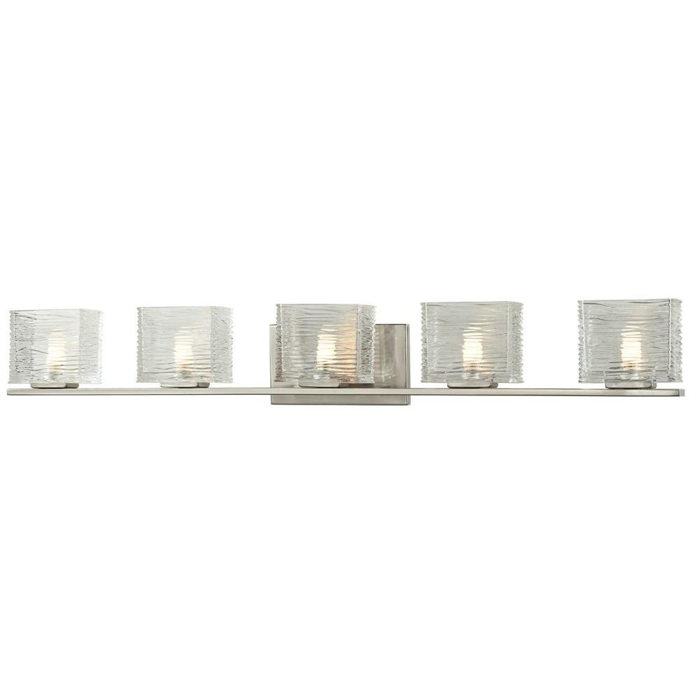 Filament Design Pure 5-Light Brushed Nickel Bath Vanity Light