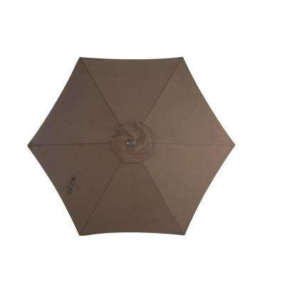 Grand Bank 9 ft. Patio Umbrella in Brown