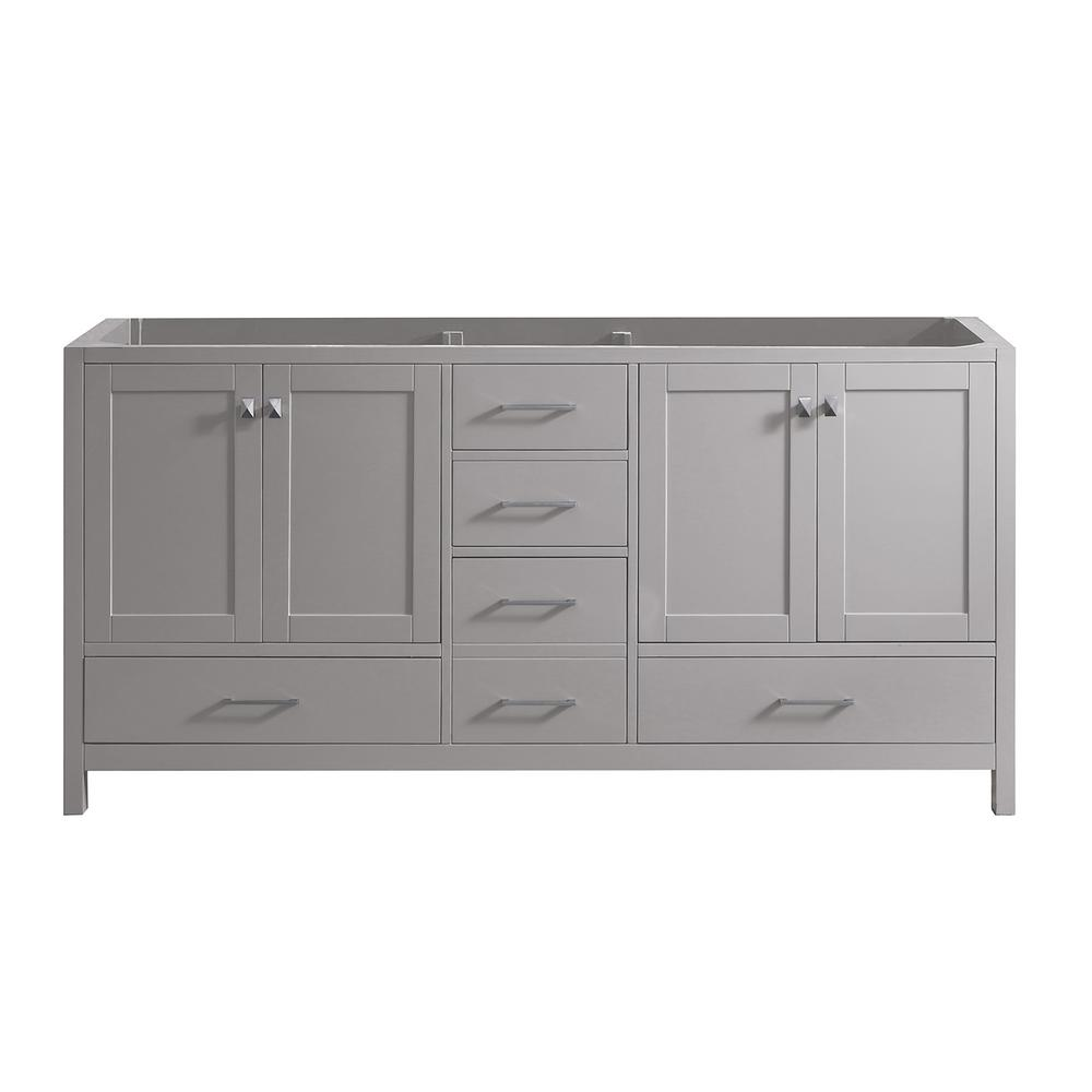 Caroline Madison 72 in. W Bath Vanity Cabinet Only in Cashmere
