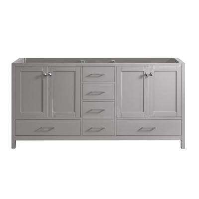 Caroline Madison 72 in. W Bath Vanity Cabinet Only in Cashmere Gray