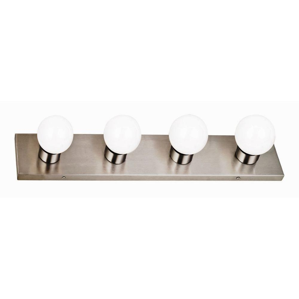 Design house 4 light satin nickel vanity light 519298 the home depot design house 4 light satin nickel vanity light aloadofball Choice Image