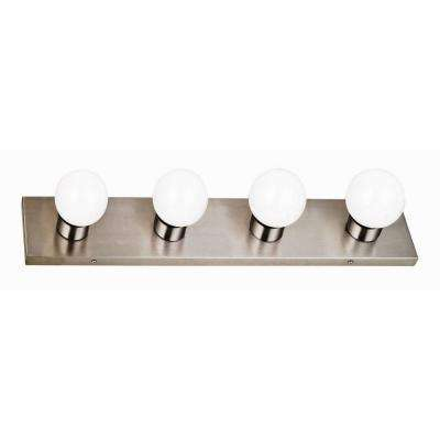 4-Light Satin Nickel Vanity Light