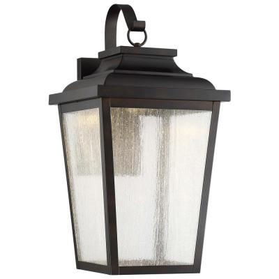 Irvington Manor 1-Light Chelesa Bronze Integrated LED Wall Lantern Sconce