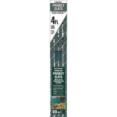 4 ft. H x 10 ft. W Green Perma-Lock Double Wall Privacy Slats