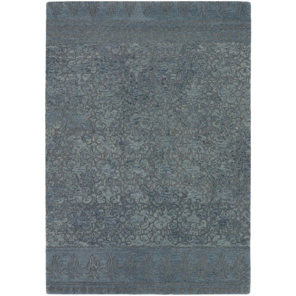 Chandra Berlow Blue/Grey 5 ft. x 7 ft. 6 in. Indoor Area Rug