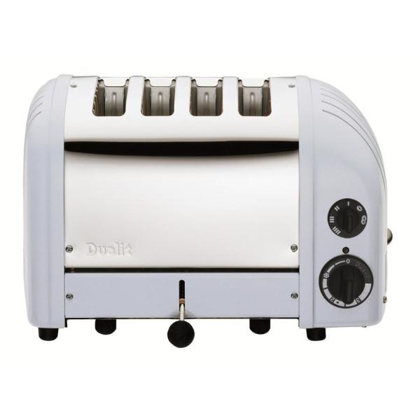 Dualit New Gen 4-Slice Glacier Blue Wide Slot Toaster with Crumb