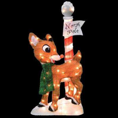 32 in. LED 2D Pre-Lit Yard Art, North Pole
