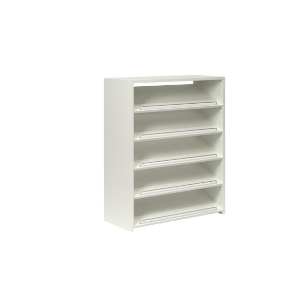 40 in. H x 32.5 in. W 15-Pair White Wood Wall Mount Shoe Rack