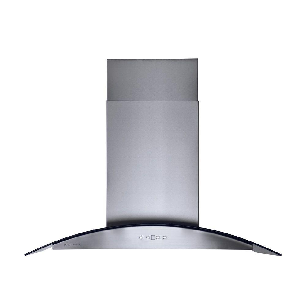 Island Chimney Style Range Hood in Stainless Steel  sc 1 st  The Home Depot & Hallman 36 in. Island Chimney Style Range Hood in Stainless Steel ...