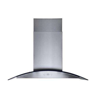 36 in. Island Chimney Style Range Hood in Stainless Steel
