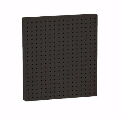 24 in. x 24 in. W Pegboard Panels (2-Pack) Black
