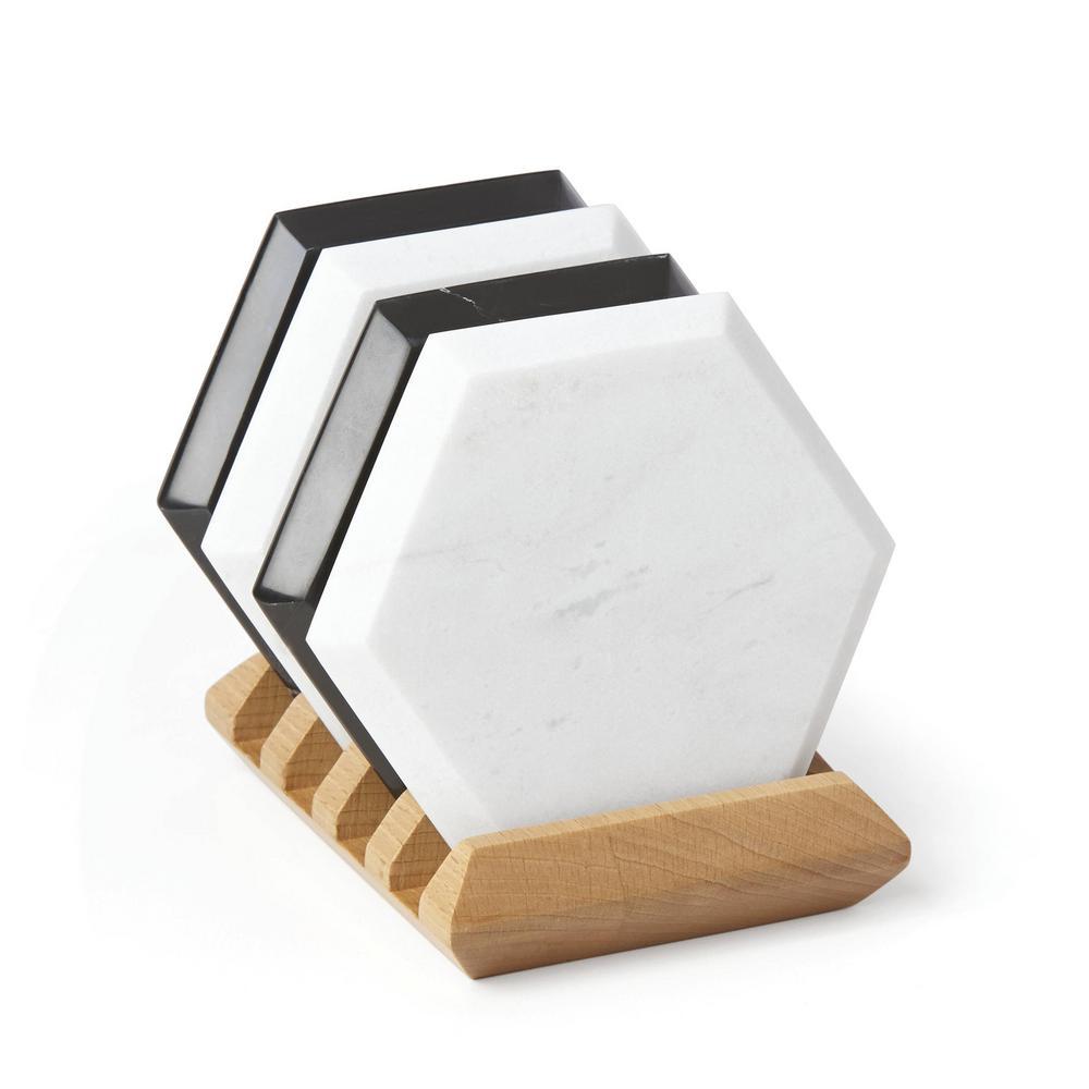 Lenox 882195 Platform Marble Salt /& Pepper with Tray