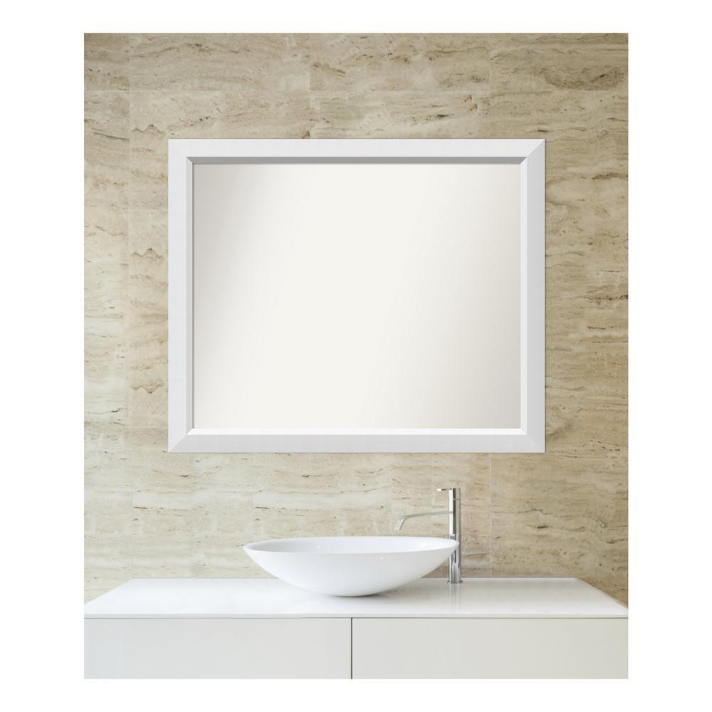 Amanti Art Choose Your Custom Size 30 In X 36 Blanco White Wood