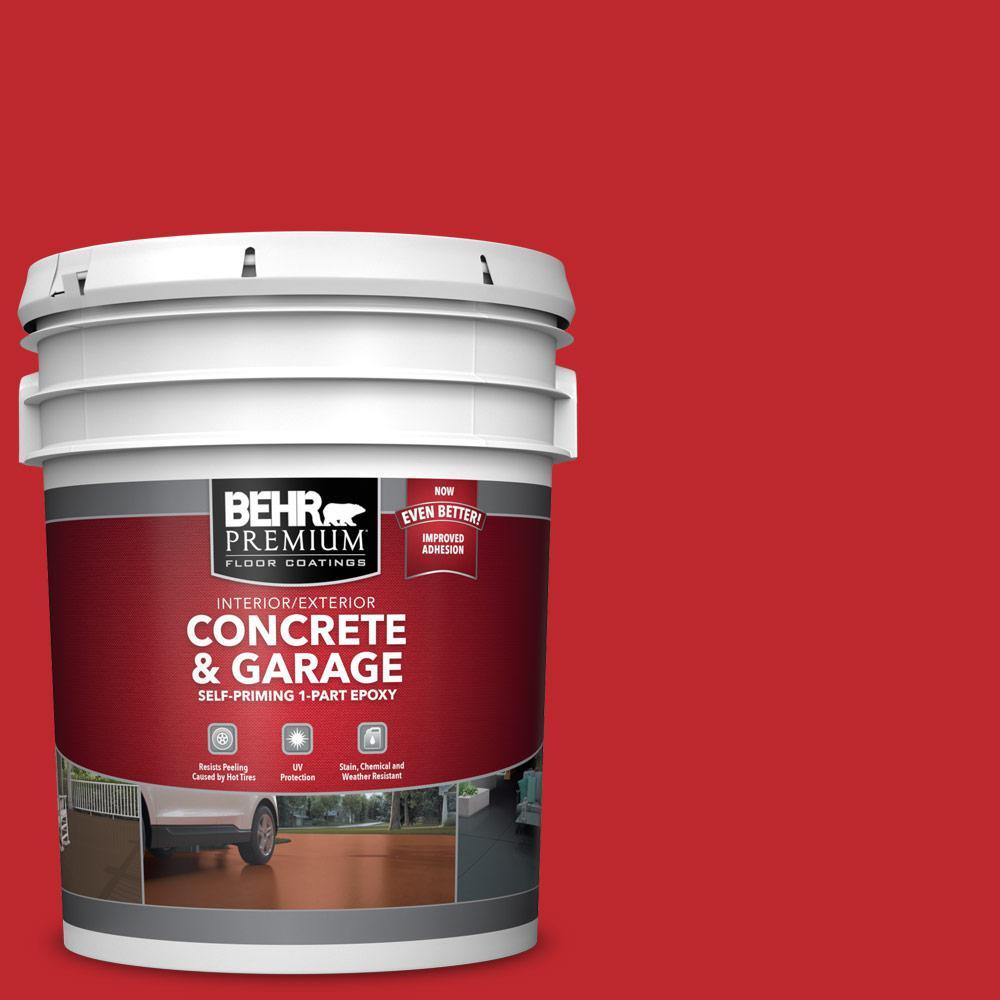 5 gal. #P150-7 Flirt Alert Self-Priming 1-Part Epoxy Satin Interior/Exterior Concrete and Garage Floor Paint