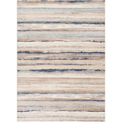 Furaha Navy 7 ft. 10 in. x 10 ft. Abstract Area Rug