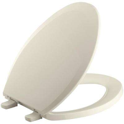Brilliant Lustra Elongated Closed Front Toilet Seat In Almond Machost Co Dining Chair Design Ideas Machostcouk