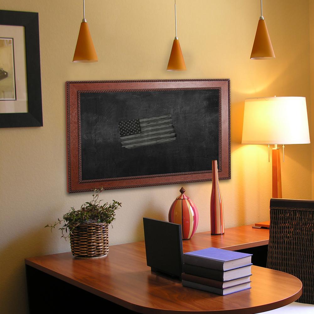 47 in. x 35 in. Western Rope Blackboard/Chalkboard