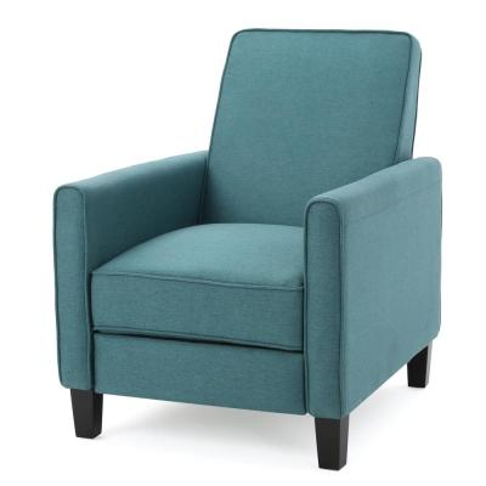 Darvis Dark Teal Fabric Recliner Club Chair