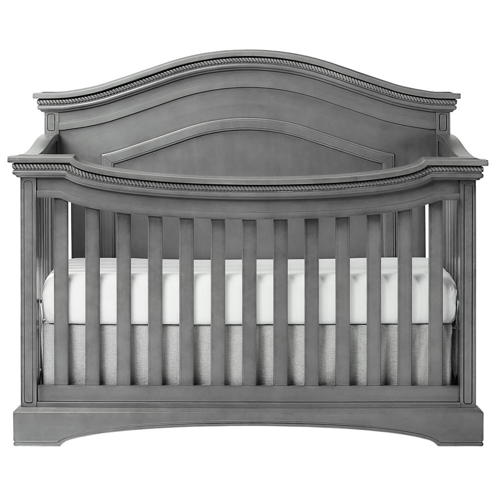 Convertible Crib Toddler Full Size Bed Daybed Child Kids Curve Top