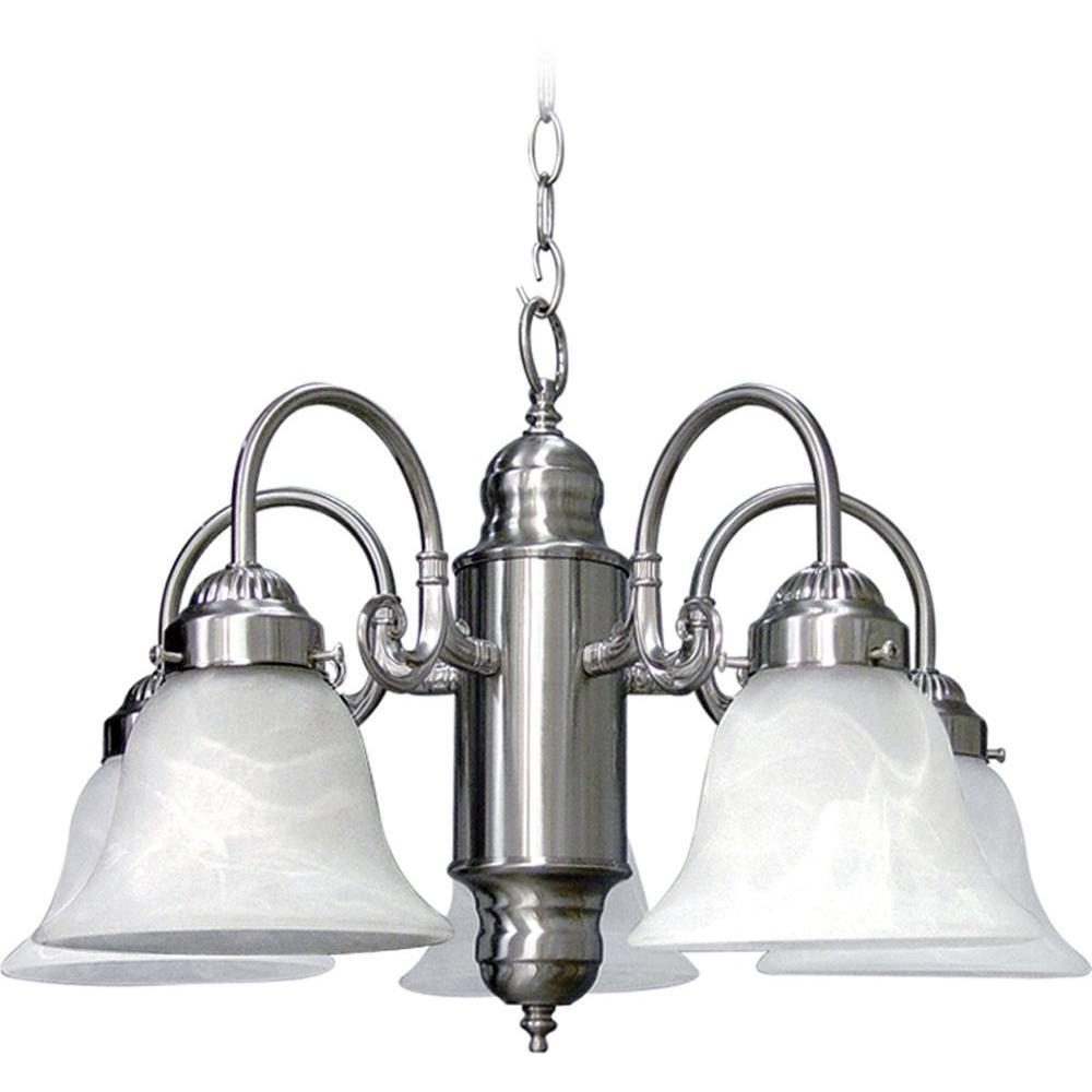 Marti 5-Light Brushed Nickel Interior Chandelier