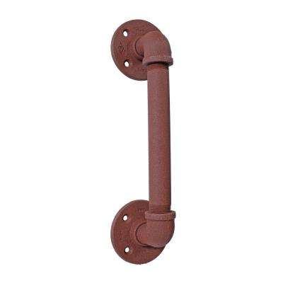 3-1/2 in. x 13 in. Rust Industrial Pipe Barn Door Pull