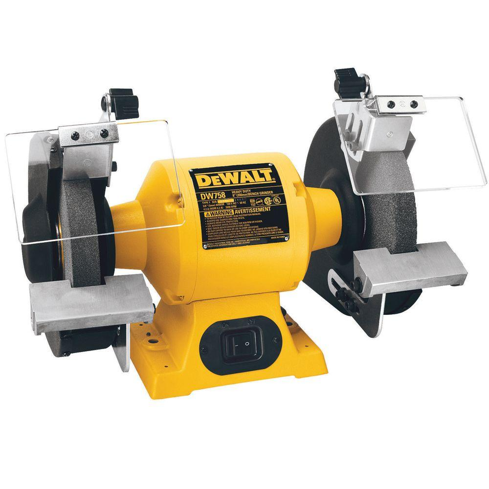 Top DEWALT 8 in. 205 mm Bench Grinder-DW758 - The Home Depot QH63