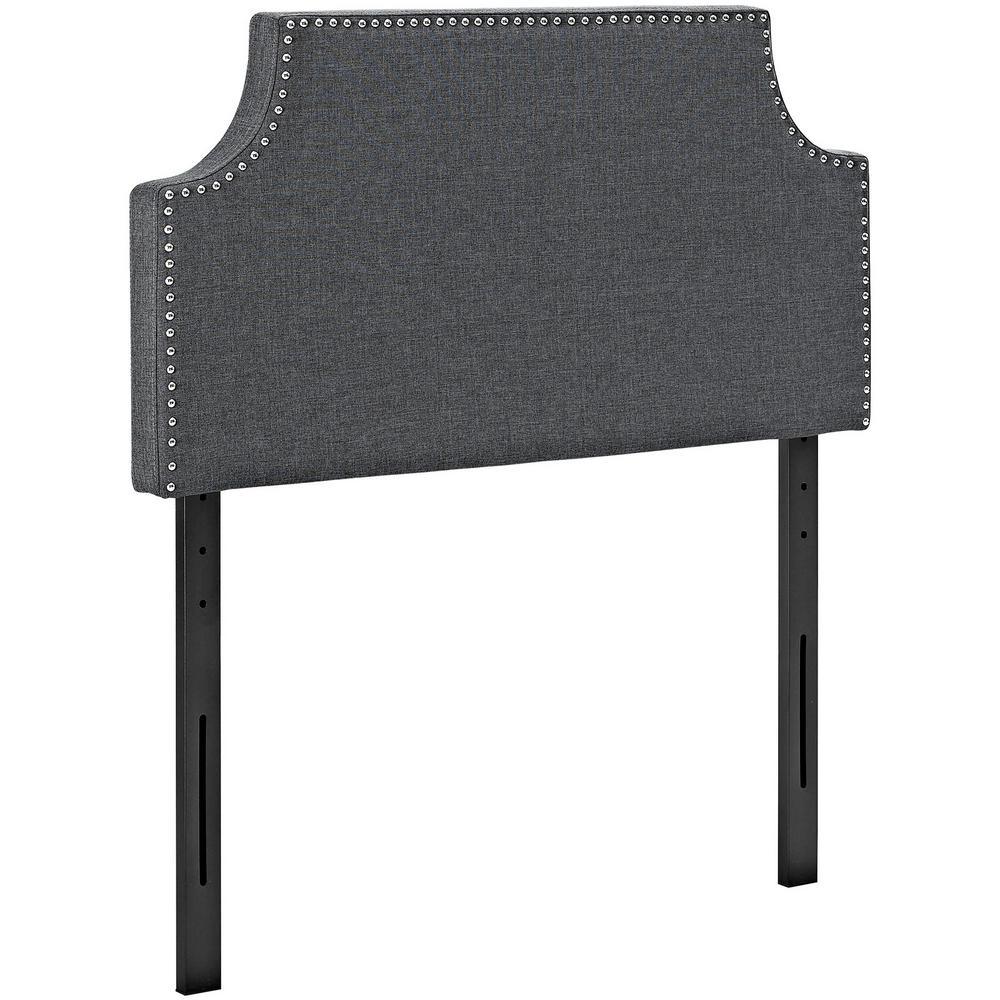 Laura Gray Twin Upholstered Fabric Headboard