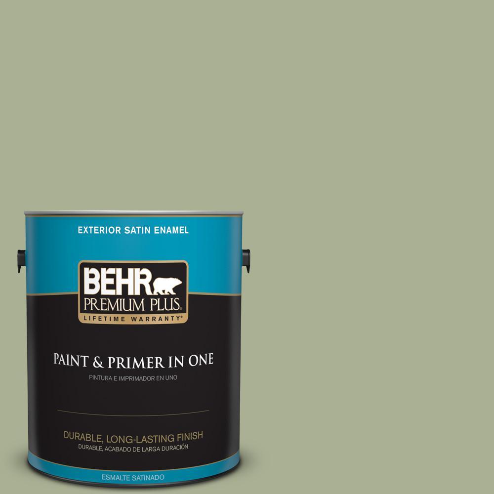 1 gal. #PPU10-06 Spring Walk Satin Enamel Exterior Paint
