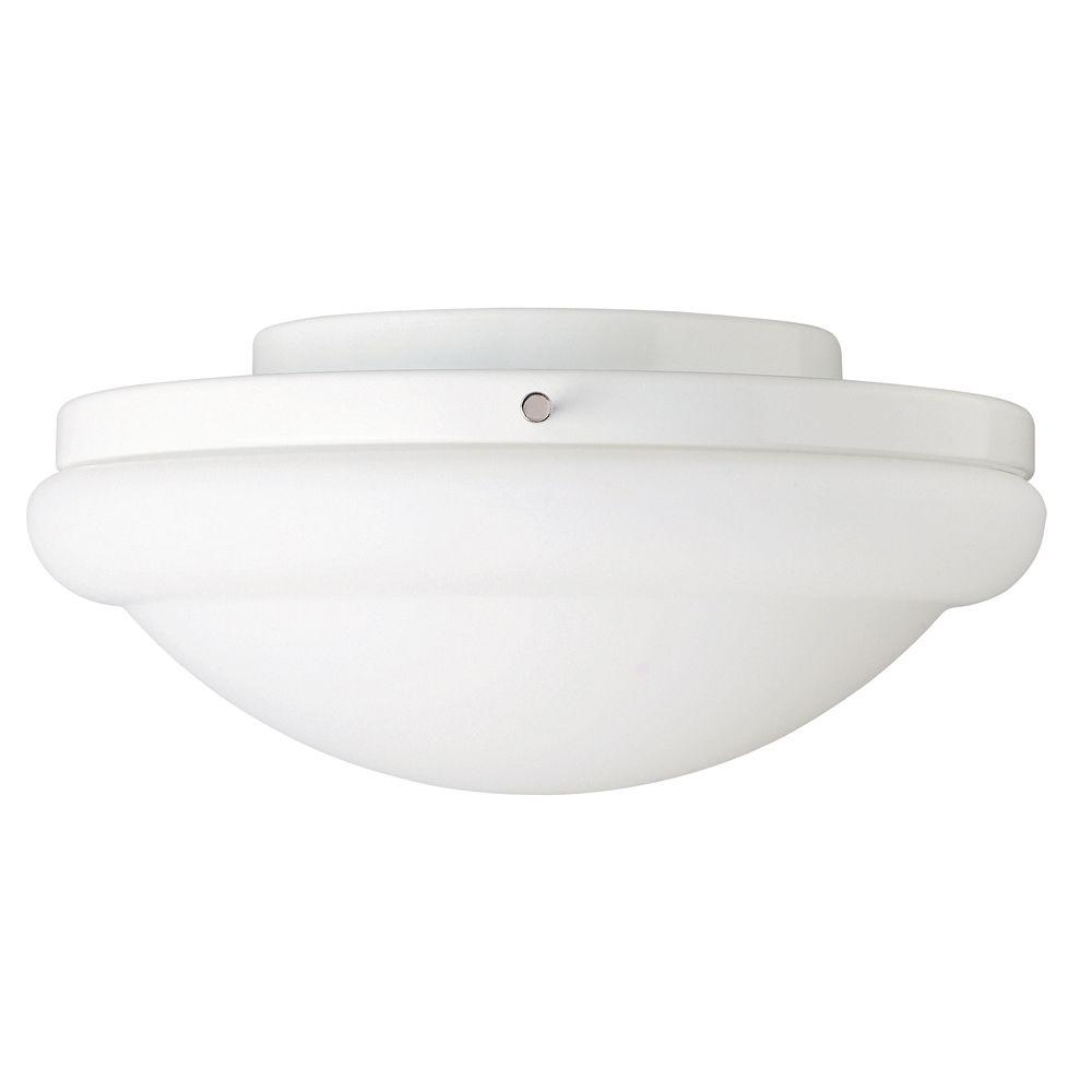 Hunter Energy Efficient Low-Profile Ceiling Fan Light Kit with Frosted Glass-DISCONTINUED