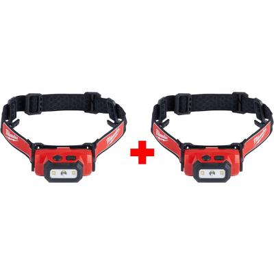 475 Lumens LED Rechargeable Hard Hat Headlamp (2-Pack)