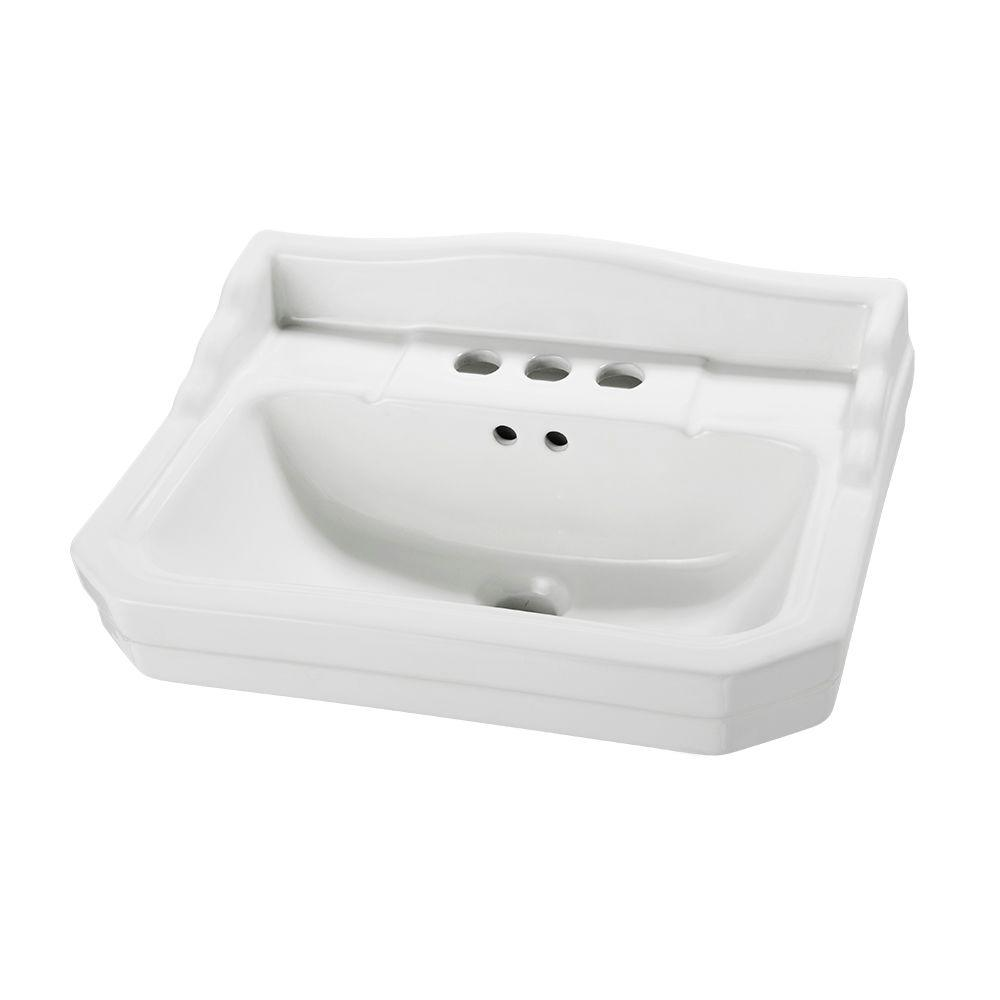 Series 1920 19.125 in. L Pedestal Sink Basin in White