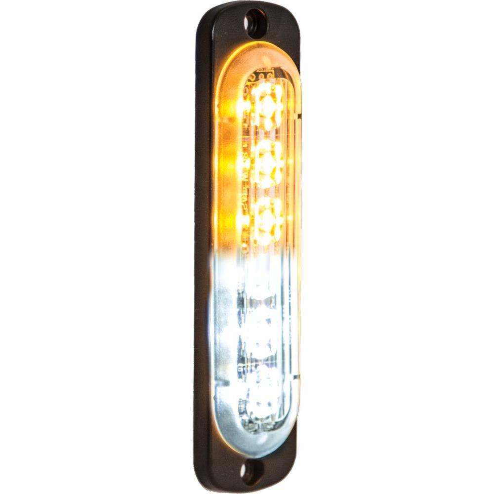 Amber/Clear LED Vertical Strobe Light