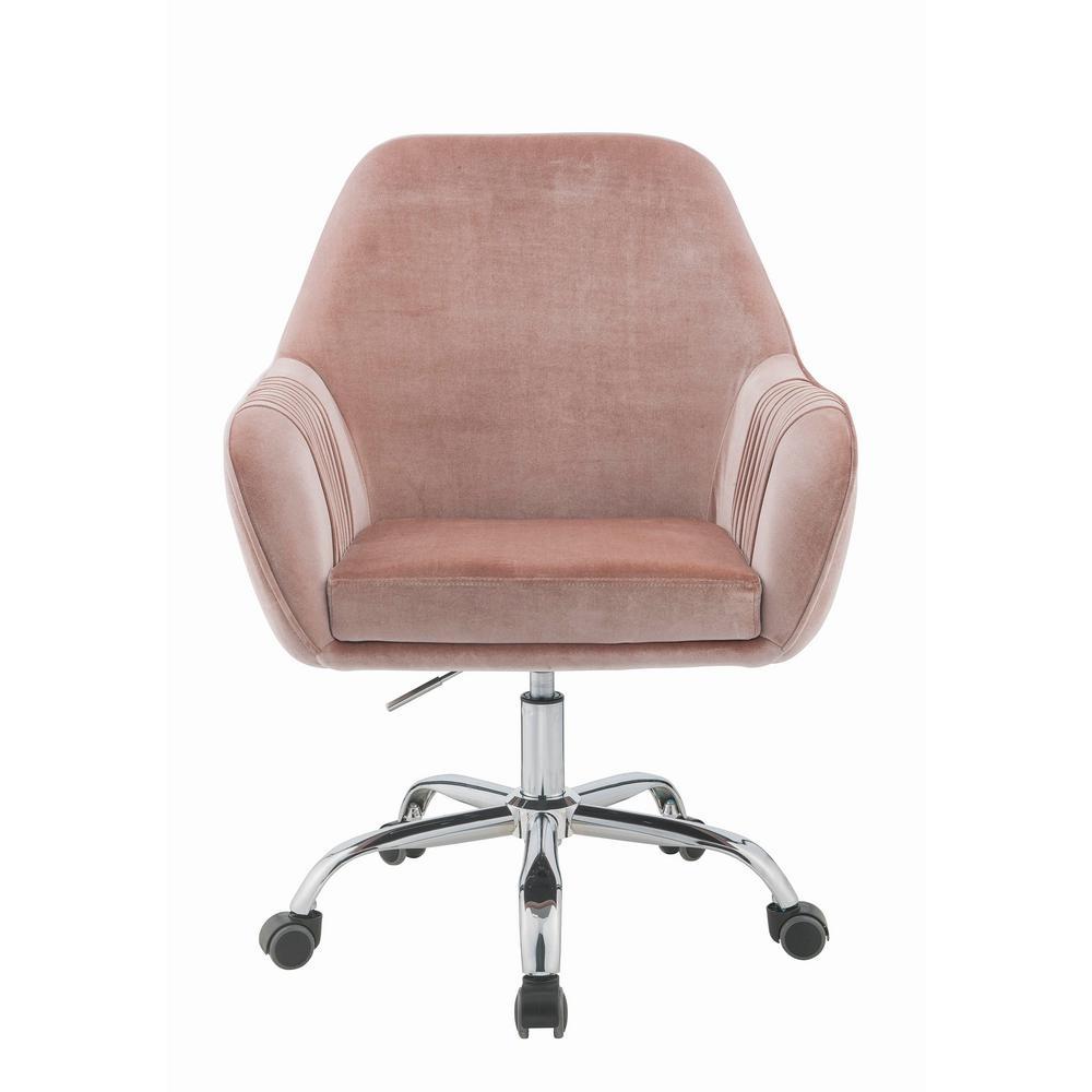 Acme Furniture Eimet Dusky Rose Velvet Office Chair
