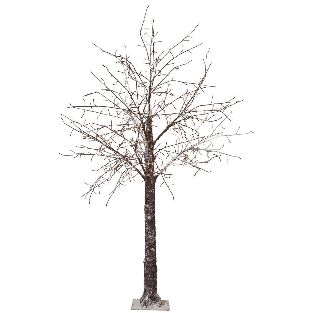 martha stewart living 8 ft pre lit led snowy brown artificial christmas tree - 8 Ft Christmas Tree