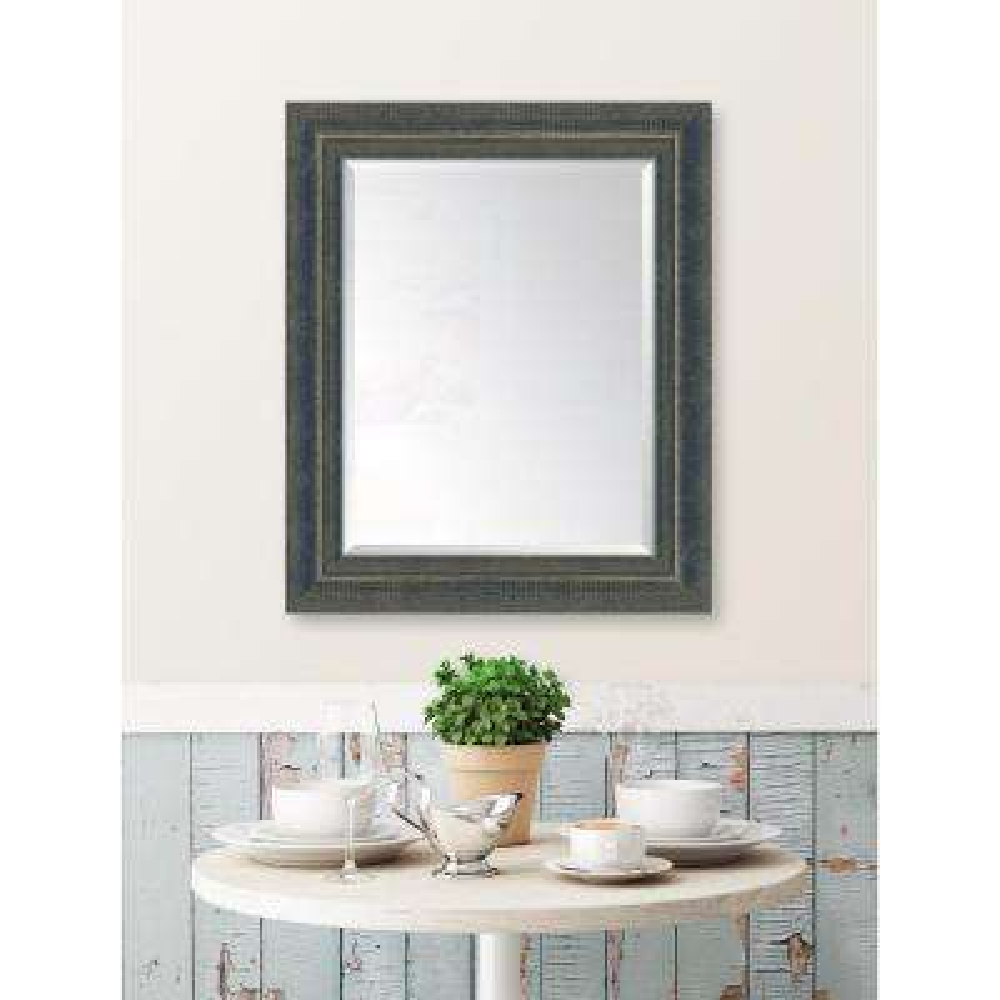 30 in. x 36 in. Framed Indigo Large and Indigo Mirror