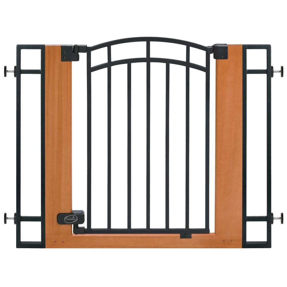 Stylish and Secure Wood and Metal Walk-Thru Gate