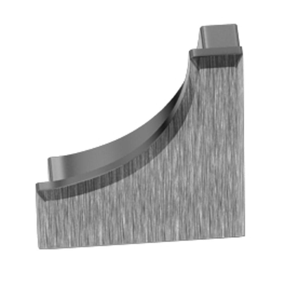 Dilex-AHK Brushed Chrome Anodized Aluminum 9/16 in. x 1/2 in. Metal End Cap