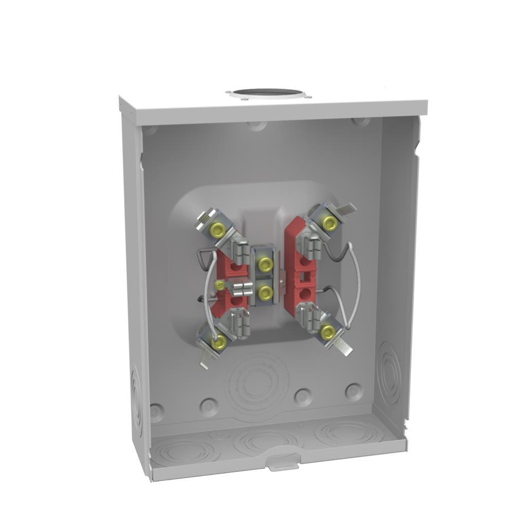 200 Amp 4 Terminal Ringless Overhead/Underground Horn-Bypass Meter Socket